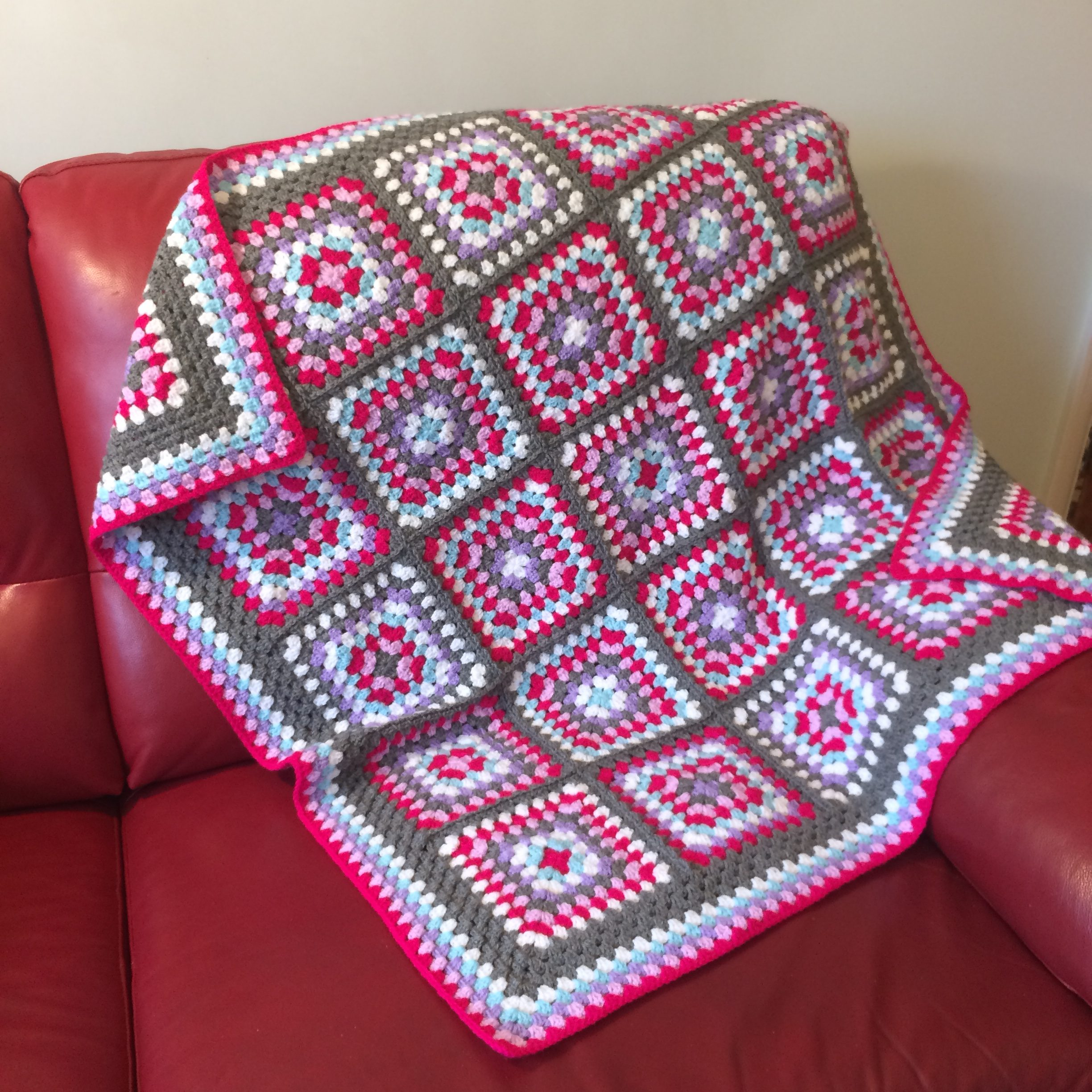 Magic Pink Granny Square